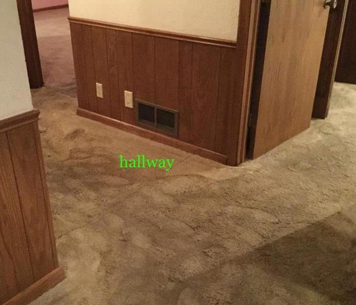 Hallway Water Damage